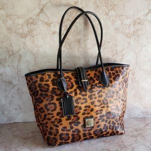 Dooney and Bourke animal print tote bag